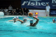 Participant(s) of the hungarian water polo national championship,Ujpest against Ferencvaros match at February 14, 2009 in Budapest Royalty Free Stock Image