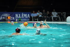 Participant(s) of the hungarian water polo national championship,Ujpest against Ferencvaros match at February 14, 2009 in Budapest Stock Image