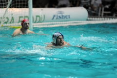 Participant(s) of the hungarian water polo national championship,Ujpest against Ferencvaros match at February 14, 2009 in Budapest Stock Images