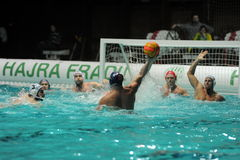 Participant(s) of the hungarian water polo national championship,Ujpest against Ferencvaros match at February 14, 2009 in Budapest Royalty Free Stock Photography