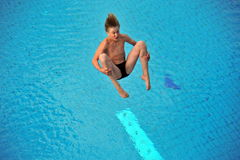 Participant(s) of the spring-board diving championship at July 02, 2009 in Budapest, Hungary. Stock Images