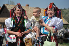 Participant(s) of the traditional Easter Festival at April 12, 2009 in Holloko, Hungary. Village is UNESCO World Heritage Site. Stock Images
