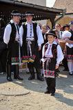 Participant(s) of the traditional Easter Festival at April 12, 2009 in Holloko, Hungary. Village is UNESCO World Heritage Site. Royalty Free Stock Photography