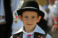 Participant(s) of the traditional Easter Festival at April 12, 2009 in Holloko, Hungary. Village is UNESCO World Heritage Site. Stock Photo