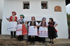 Participant(s) of the traditional Easter Festival at April 12, 2009 in Holloko, Hungary. Village is UNESCO World Heritage Site. Stock Photos