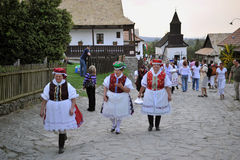 Participant(s) of the traditional Easter Festival at April 12, 2009 in Holloko, Hungary. Village is UNESCO World Heritage Site. Stock Image