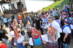 Participant(s) of the traditional Easter Festival at April 12, 2009 in Holloko, Hungary. Village is UNESCO World Heritage Site. Royalty Free Stock Images