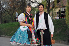Participant(s) of the traditional Easter Festival at April 12, 2009 in Holloko, Hungary. Village is UNESCO World Heritage Site. Stock Photography