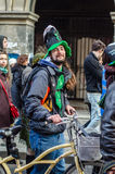 Participant at Saint Patrick parade Stock Images