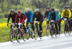 participant in a smaller bike race for both professionals and amateurs Royalty Free Stock Images