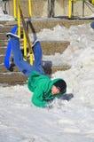 Participant in snowboarding Stock Photos