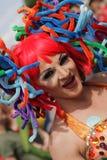 Participante colorido del homosexual y lesbiana Pride Parade Imagen de archivo