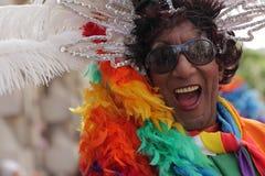 Participante colorido del homosexual y lesbiana Pride Parade Imágenes de archivo libres de regalías