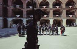 Participante del día vivo de la historia de la guerra civil foto de archivo