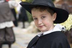 Participante del partido medieval del traje Fotografía de archivo