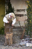 Participante del partido medieval del traje Fotos de archivo