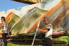 Participante-infront--artes -finais Foto de Stock