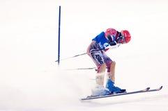 Participante não identificado da raça de esqui Imagem de Stock