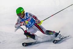 Participante não identificado do esqui Foto de Stock