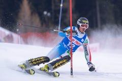 Participante não identificado do esqui Imagem de Stock Royalty Free