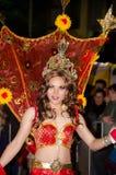 Participante na parada alegre do carnaval de Sydney Fotos de Stock Royalty Free