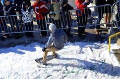 Participante na snowboarding Foto de Stock Royalty Free