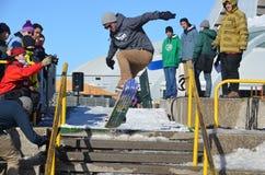 Participante na snowboarding Fotografia de Stock Royalty Free