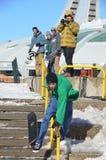 Participante na snowboarding Fotografia de Stock