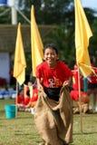 Participante olímpico de la corrida de día Imagen de archivo libre de regalías