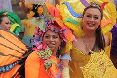 Participantes coloridos del homosexual y lesbiana Pride Parade Fotografía de archivo