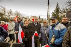 Participantes de la ceremonia, día de conmemoración nacional del th Fotografía de archivo