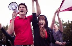 Participantes de la revolución del estudiante Fotografía de archivo