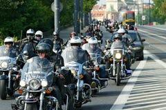 Participantes de la 14ta reunión internacional de Katyn de la motocicleta imágenes de archivo libres de regalías