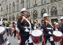 Participantes de Poppy Parade Fotografía de archivo