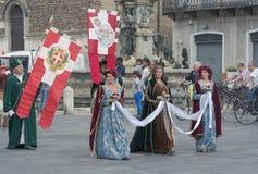 Procesión medieval Imágenes de archivo libres de regalías