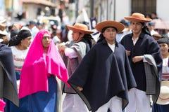 Participantes del Corpus Christi en Ecuador Foto de archivo libre de regalías