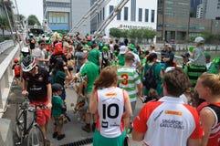 Participantes del desfile del día del ` s de St Patrick Fotos de archivo libres de regalías