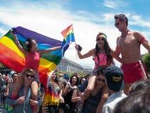 Participantes del fin de semana de San Francisco Pride Foto de archivo libre de regalías
