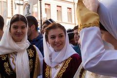 Participantes del regimiento inmortal - acción pública internacional, que ocurre en Rusia y algunos países de cerca Foto de archivo