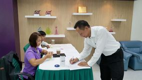 Participantes do seminário em Tailândia Imagens de Stock Royalty Free