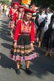 Participantes en el der Kulturen de Karneval fotos de archivo