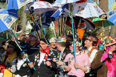 Participantes en el desfile de carnaval en Niza Carnaval de Nice 20 Imágenes de archivo libres de regalías