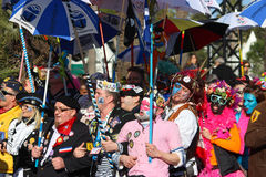 Participantes en el desfile de carnaval en Niza Carnaval de Nice 20 Fotografía de archivo libre de regalías