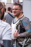 Participantes en el 10mo convenio internacional del tatuaje en centro de la Congreso-EXPO Fotografía de archivo libre de regalías