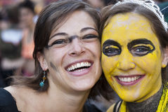 Participantes en el orgullo alegre 2012 de Bolonia Fotografía de archivo