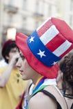 Participantes en el orgullo alegre 2012 de Bolonia foto de archivo libre de regalías