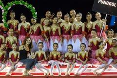 Participantes en la celebración del Año Nuevo lunar chino Imagenes de archivo