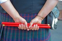 Participantes Escocés-irlandeses del festival Imagen de archivo libre de regalías