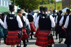 Participantes Escocés-irlandeses del festival Imagenes de archivo
