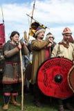 Participantes no identificados de Rekawka - tradición polaca, celebrados en Kraków el martes después de Pascua Fotografía de archivo libre de regalías